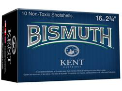 "Kent Cartridge Bismuth Non-Toxic Premium Ammunition 16 Gauge 2-3/4"" 1 oz #6 Bismuth Non-Toxic Shot"