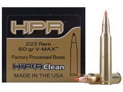 HPR HyperClean Remanufactured Ammunition 223 Remington 60 Grain Hornady V-Max Box of 50