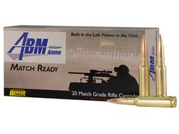 ABM Match Ready-Target Ammunition 308 Winchester 155.5 Grain Berger Match Fullbore Target Box of 20