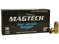 Magtech First Defense Bonded Ammunition 45 ACP 230 Grain Bonded Jacketed Hollow Point