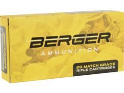 Berger Match Grade Ammunition 260 Remington 130 Grain Hybrid OTM Tactical Box of 20