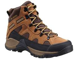 "Columbia Smith Rock Outdry 6"" Waterproof Hiking Boots Leather Hawk/Dark Banana Men's"