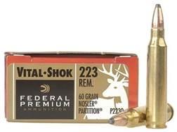 Federal Premium Vital-Shok Ammunition 223 Remington 60 Grain Nosler Partition Box of 20