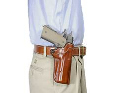 DeSantis Top Cop 2.0 Paddle and Belt Holster 1911 Government, Commander Leather
