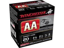 """Winchester AA Target Ammunition 20 Gauge 2-3/4"""" 7/8 oz #8 Shot"""