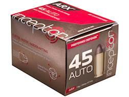 Polycase Inceptor Preferred Defense Ammunition 45 ACP 118 Grain Frangible ARX Lead-Free