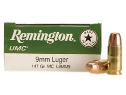 Remington UMC Ammunition 9mm Luger 147 Grain Full Metal Jacket