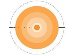 """Do-All Orange Dot 10"""" x 10"""" Bullseye Paper Target Package of 10"""