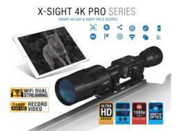 ATN X-Sight 4K Pro Series Smart HD Digital Day/Night Rifle Scope 3-14x with HD Video Recording, W...