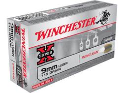Winchester WinClean Ammunition 9mm Luger 115 Grain Brass Enclosed Base