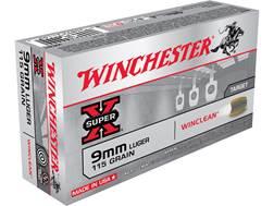 Winchester WinClean Ammunition 9mm Luger 115 Grain Brass Enclosed Base