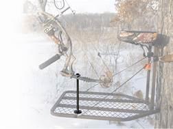 HME Archer's Treestand Platform Post Bow Holder Steel Brown