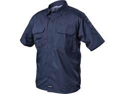 BLACKHAWK! Men's Pursuit Button-Up Shirt Short Sleeve Poly/Cotton Ripstop Navy XL