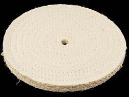 "Formax 8"" Diameter 3/8"" Thick Spiral Sewn Sisal Buffing and Polishing Wheel With 5/8"" Arbor Hole"