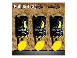 Rocket Shot Spring Loaded Airgun Target Steel Black Package of 3