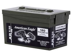 Federal American Eagle AR Ammunition 5.56x45mm NATO 55 Grain XM193 Full Metal Jacket Boat Tail Pl...
