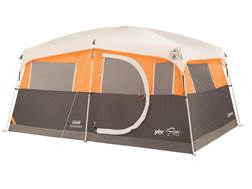 "Coleman Jenny Lake Fast Pitch 8 Person Cabin Tent with Closet 156"" x 108"" x 80"" Polyester Gray an..."