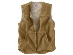 Carhartt Men's Rugged Sherpa Lined Sandstone Vest Cotton