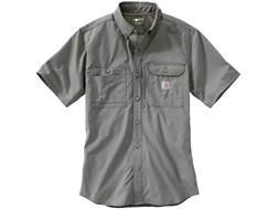 Carhartt Men's Force Ridgefield Button-Up Shirt Short Sleeve Polyester/Cotton