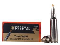 Federal Premium Vital-Shok Ammunition 7mm Winchester Short Magnum (WSM) 140 Grain Trophy Bonded T...