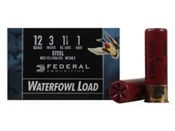 "Federal Speed-Shok Waterfowl Ammunition 12 Gauge 3"" 1-1/4 oz #1 Non-Toxic Steel Shot"