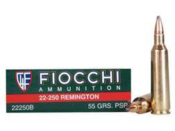 Fiocchi Shooting Dynamics Ammunition 22-250 Remington 55 Grain Pointed Soft Point Box of 20