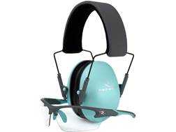 Radians Lowset Earmuff and Shooting Glasses Combo (NRR 21 dB) Aqua/Charcoal