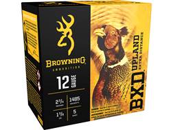 "Browning BXD Upland Ammunition 12 Gauge 2-3/4"" 1-3/8 oz #5 Shot"