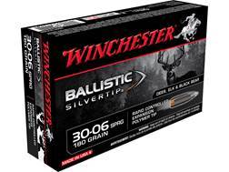 Winchester Ballistic Silvertip Ammunition 30-06 Springfield 180 Grain Rapid Controlled Expansion ...