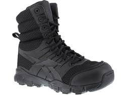 "Reebok Dauntless Ultra-Light 8"" Side-Zip Tactical Boots Leather/Nylon"