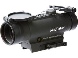 Holosun Red Dot Sight with Integrated Laser Sight 1x 30mm 2 MOA Dot Weaver-Style Mount Matte