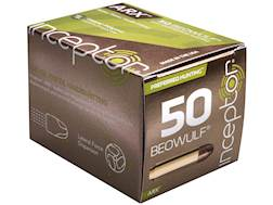 PolyCase Inceptor Preferred Hunting Ammunition 50 Beowulf 200 Grain Frangible ARX Lead-Free Box o...