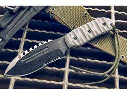 "TOPS Knives Stryker Defender Tool Fixed Blade Knife 4.75"" Modified Spear Point 1095 High Carbon A..."