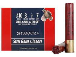"Federal Game & Target Ammunition 410 Bore 3"" 3/8 oz #7 Non-Toxic Steel Shot Case of 250 (10 Boxes..."