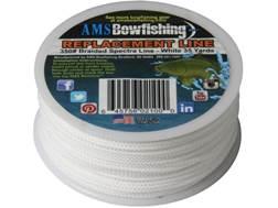 AMS Braided Spectra Bowfishing Line 350 lb 35 Yard Spool White