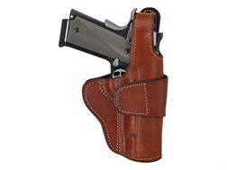 """Ross Leather Crossdraw Driving Belt Holster Right Hand S&W N-Frame 5"""" Barrel Leather Tan"""