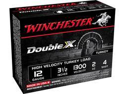 "Winchester Double X Turkey Ammunition 12 Gauge 3-1/2"" 2 oz #4 Copper Plated Shot"