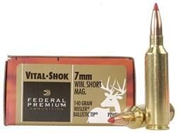Federal Premium Vital-Shok Ammunition 7mm Winchester Short Magnum (WSM) 140 Grain Nosler Ballisti...