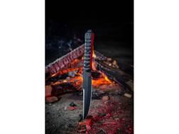 """TOPS Zero Dark 30 Fixed Blade Tactical Knife 6"""" Drop Point 1095 Steel Blade Micarta Handle Black"""