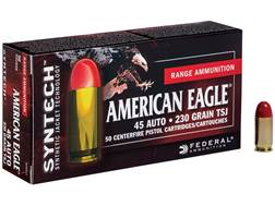 Federal American Eagle Syntech Ammunition 45 ACP 230 Grain Total Synthetic Jacket Box of 50