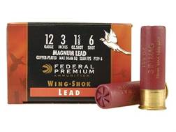 "Federal Premium Wing-Shok Ammunition 12 Gauge 3"" 1-5/8 oz Buffered #6 Copper Plated Shot Box of 25"