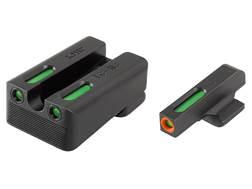 TRUGLO TFX Pro Sight Set 1911 Kimber Cut Tritium / Fiber Optic Green with Orange Front Dot Outline