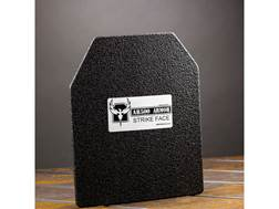 """AR500 Body Armor Stand Alone Ballistic Plate III Right Hand Shooter's Cut 8"""" x 10"""" Flat Steel"""