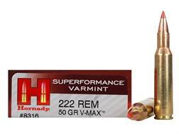 Hornady Superformance Varmint Ammunition 222 Remington 50 Grain V-Max Box of 20