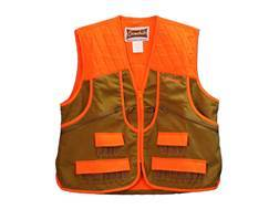 Gamehide Men's Pheasant Vest Polyester Marsh Brown and Blaze Orange