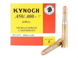 "Kynoch Ammunition 450-400 Nitro Express 3"" (410 Diameter) 400 Grain Woodleigh Weldcore Solid Box ..."