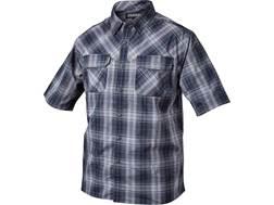 BLACKHAWK! Men's 1730 Button-Up Shirt Short Sleeve Cotton/Polyester/Lycra Admiral Blue Small