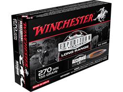 Winchester Expedition Big Game Long Range Ammunition 270 Winchester 150 Grain Nosler Accubond LR