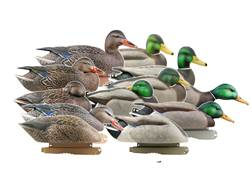GHG Pro-Grade Harvester Pack Mallard with Flocked Drake Heads Duck Decoy Pack of 12