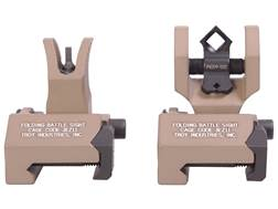 Troy Industries Medium Flip-Up Battle Sight Set M4-Style Front, Diopter Rear AR-15 Aluminum Flat ...